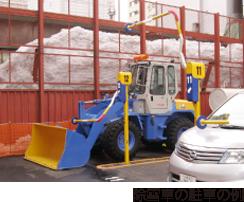 除雪車の駐車の例